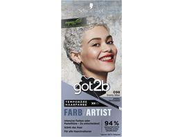 Schwarzkopf got2b Farb Artist Granny Silber 098 Stufe 1