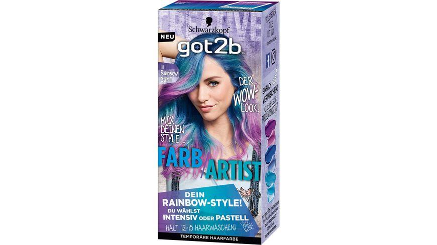 Schwarzkopf got2b Farb Artist Rainbow Bunt 111 Stufe 1