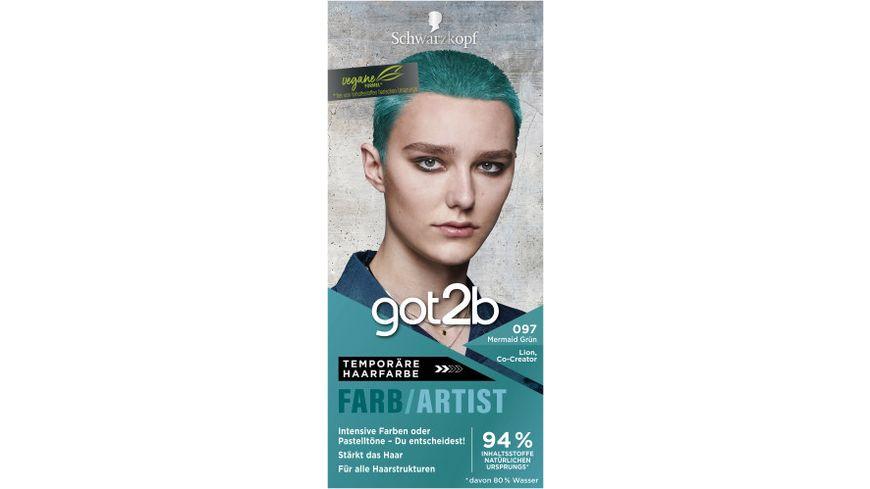 Schwarzkopf got2b Farb/Artist Mermaid Grün 097 Stufe 1 online ...