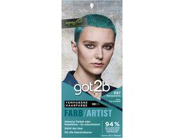 Schwarzkopf got2b Farb Artist Mermaid Gruen 097