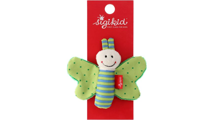 sigikid Knister Schmetterling gruen Red Stars Collection