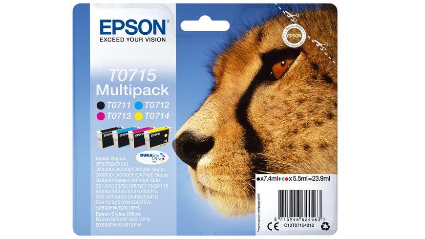 Epson Druckerpatrone T0715 Multipack Gepard