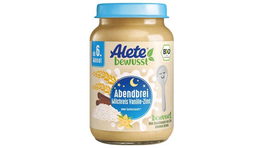 Alete Abendbrei Milchreis Vanille Zimt