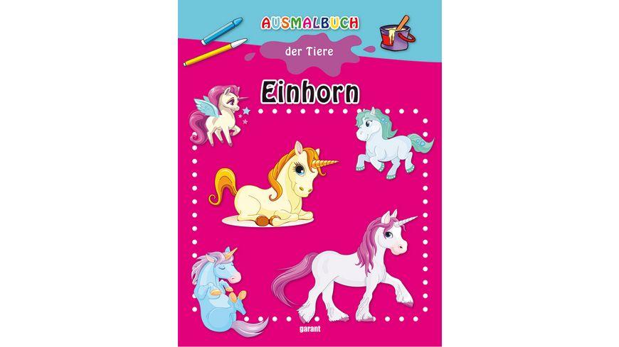 Buch garant Verlag Ausmalbuch der Tiere Einhorn
