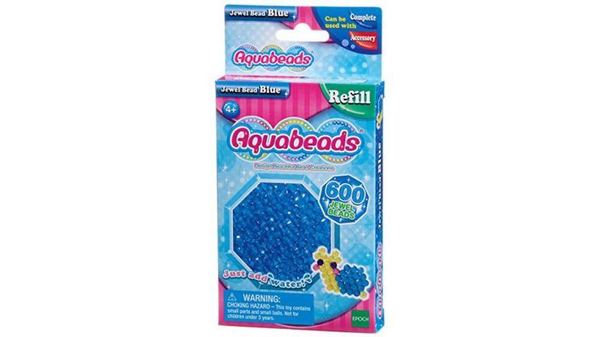 Aquabeads Refill Glitzerperlen blau 600 Stueck