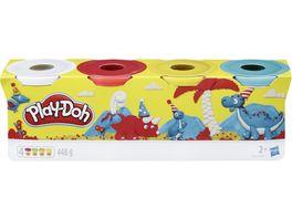 Hasbro Play Doh 4er Pack Grundfarben blau gelb rot weiss