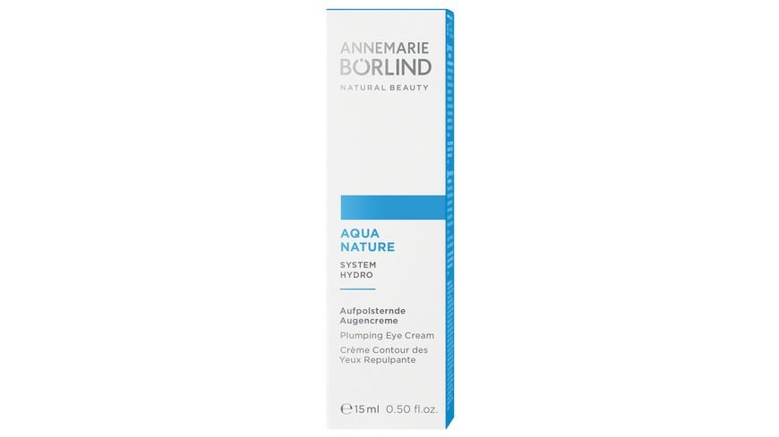 ANNEMARIE BOeRLIND AQUANATURE Aufpolsternde Augencreme