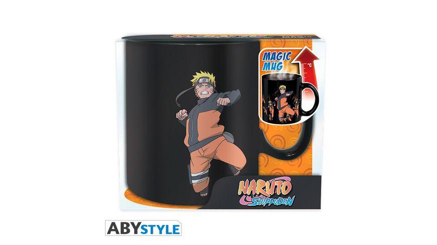 Naruto Multicloning Thermoeffekt Tasse