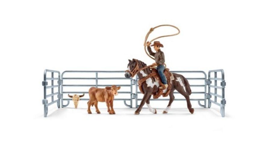 Schleich 41418 World of Nature Farm World Team roping mit Cowboy