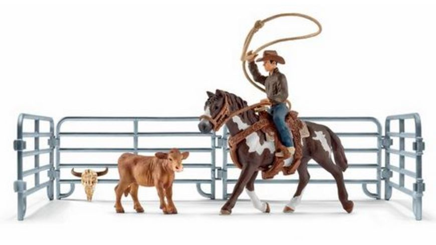 Schleich Farm World Team roping mit Cowboy
