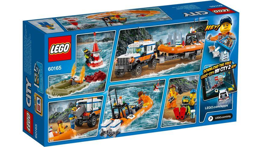 LEGO City Kuestenwache 60165 Gelaendewagen mit Rettungsboot
