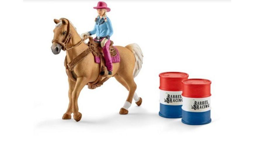 Schleich World of Nature Farm World Barrel racing mit Cowgirl