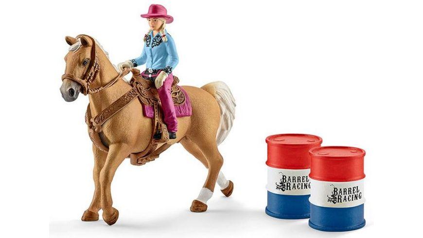 Schleich 41417 World of Nature Farm World Barrel racing mit Cowgirl