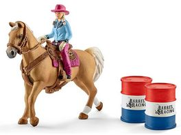 Schleich World of Nature Farm World Barrel racing mit Cowgirl