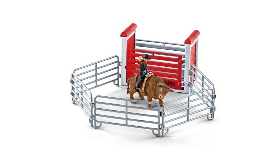 Schleich Farm World Bull riding mit Cowboy