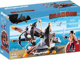 PLAYMOBIL 9249 Dragons Eret mit 4 Schuss Feuer Balliste