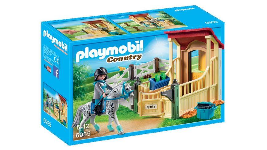 PLAYMOBIL 6935 Country Pferdebox Appaloosa