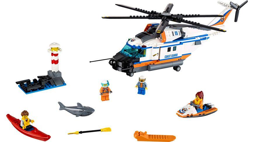 LEGO City Kuestenwache 60166 Seenot Rettungshubschrauber