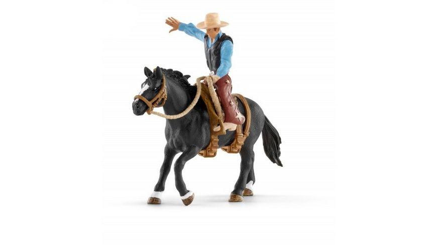 Schleich Farm World Saddle bronc riding mit Cowboy