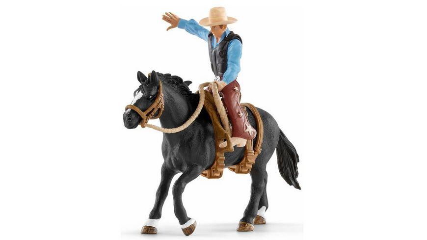 Schleich World of Nature Farm World Saddle bronc riding mit Cowboy