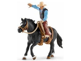 Schleich 41416 World of Nature Farm World Saddle bronc riding mit Cowboy