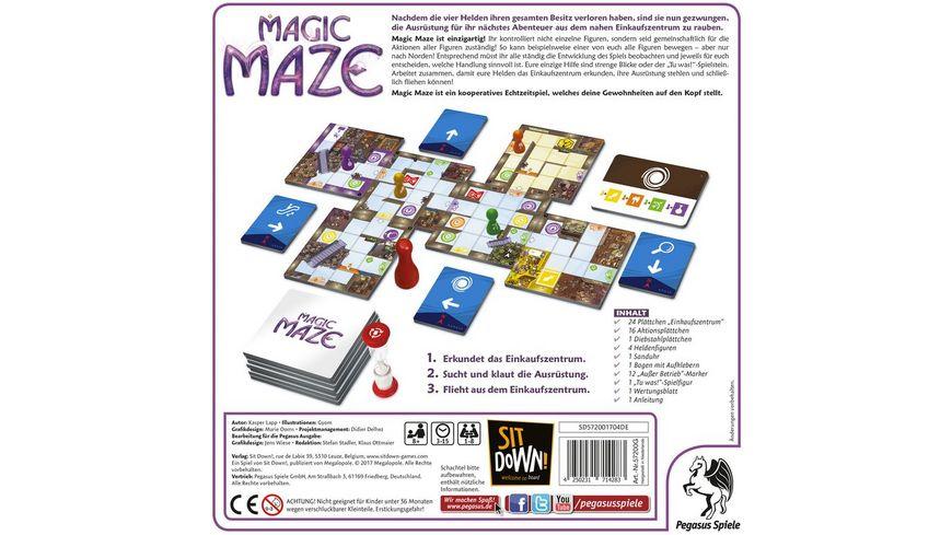 Pegasus Magic Maze deutsche Ausgabe Nominiert Spiel des Jahres 2017