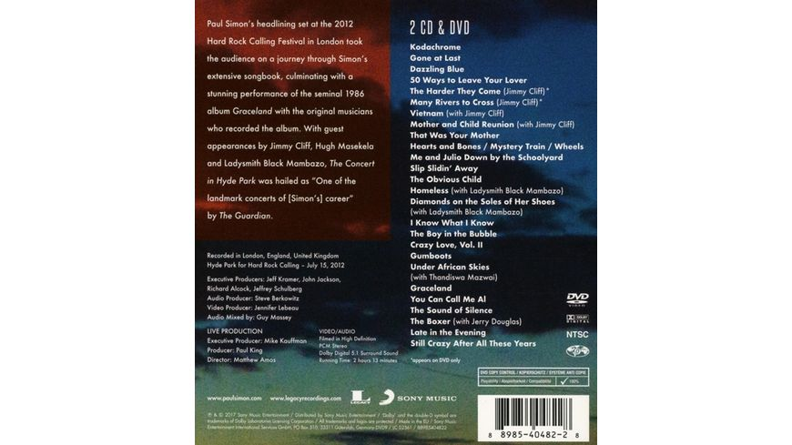 The Concert in Hyde Park CD DVD