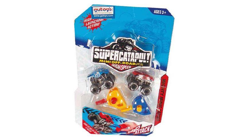 Gutoys Mini Katapult Offroad Trucks 2er Set