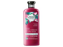 Herbal Essences Pflegespuelung pure renew Clean Weisse Erdbeere Suesse Minze