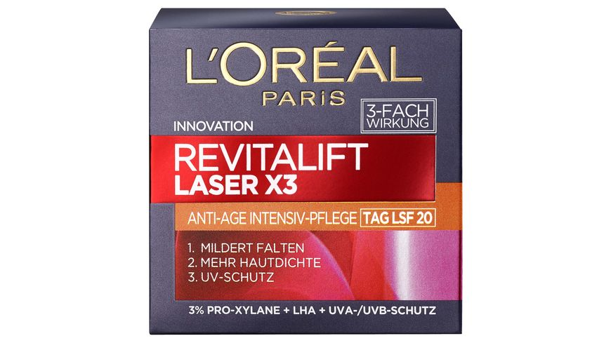 L OREAL PARIS REVITALIFT Laser X3 Tagespflege LSF20