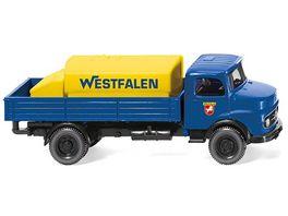 WIKING 0438 01 Pritschen Lkw mit Aufsatztank MB Westfalen