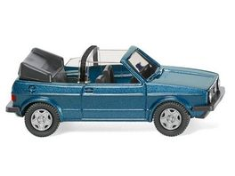 WIKING 0046 04 VW Golf I Cabrio oceanic blue metallic