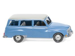 WIKING 0123 01 Auto Union 1000 Universal blau mit weissem Dach
