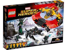 LEGO Marvel Super Heroes Marvel Spider Man 76084 Das ultimative Kraeftemessen um Asgard