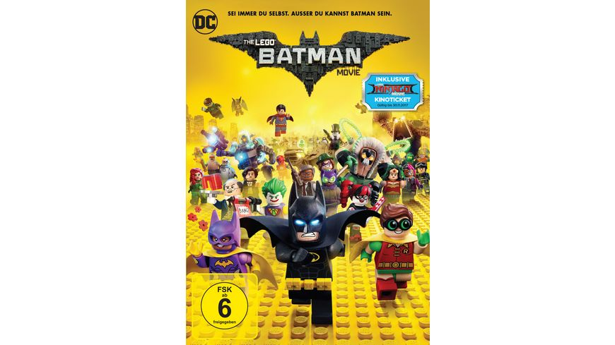 The Lego Batman Movie exklusive Version inkl GRATIS Kinoticket fuer The LEGO Ninjago Movie DVD