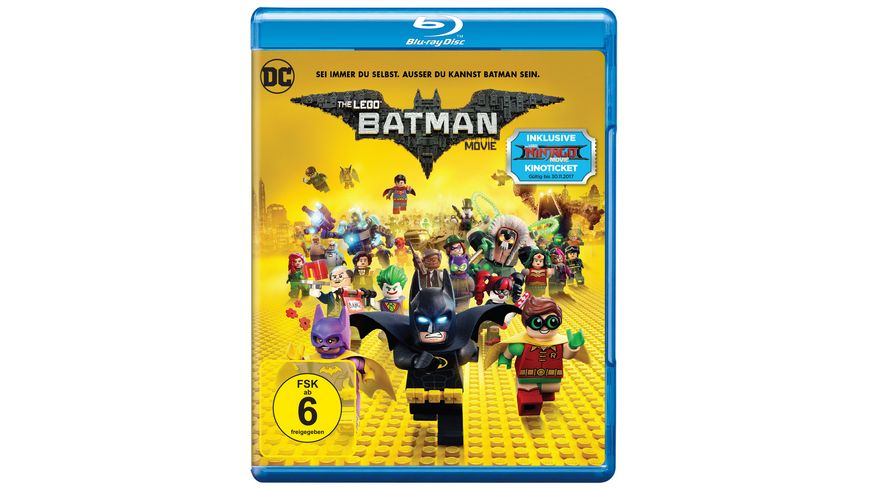 The Lego Batman Movie exklusive Version inkl GRATIS Kinoticket fuer The LEGO Ninjago Movie Blu ray Disc