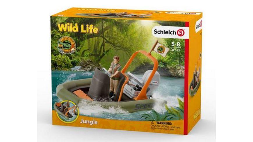 Schleich Wild Life Schlauchboot mit Ranger