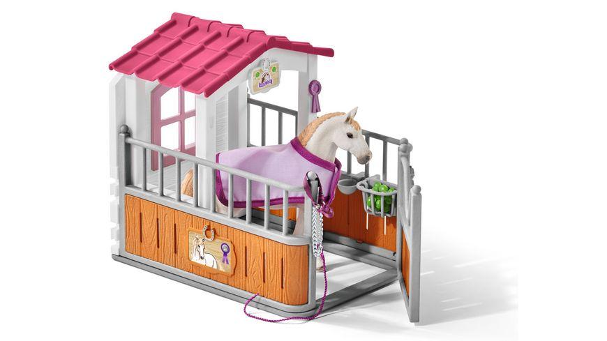 Schleich 42368 Horse Club Pferdebox mit Lusitano Stute