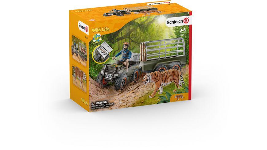 Schleich Wild Life Quad mit Anhaenger und Ranger