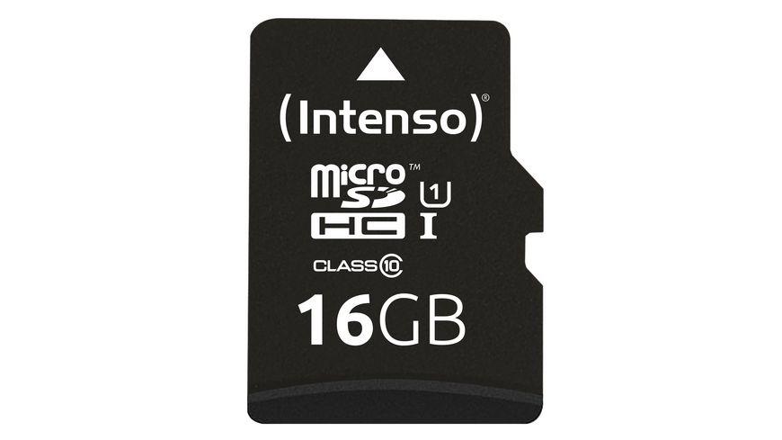 Intenso MicroSDHC 16GB, Class 10, UHS-I, inkl. Adapter