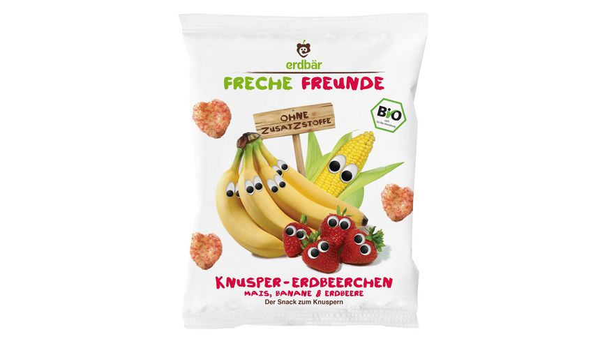 Freche Freunde Bio Knusper Erdbeerchen