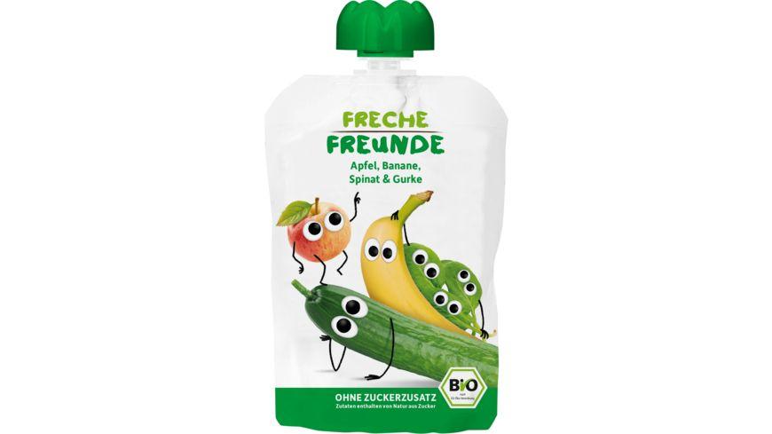 Freche Freunde Bio Quetschie 100 Apfel Banane Spinat Gurke
