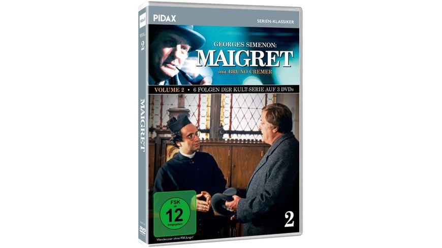 Maigret Vol 2 Weitere 6 Folgen der Kult Serie mit Bruno Cremer nach dem Romanen von Georges Simenon Pidax Serien Klassiker 3 DVDs