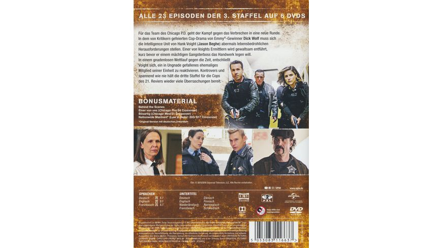Chicago P D Season 3 6 DVDs