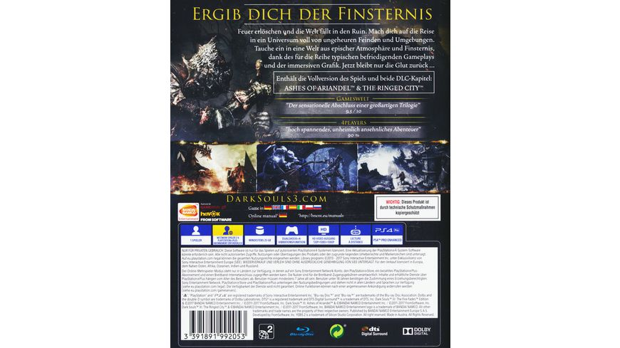 Dark Souls 3 The Fire Fades Edition GOTY