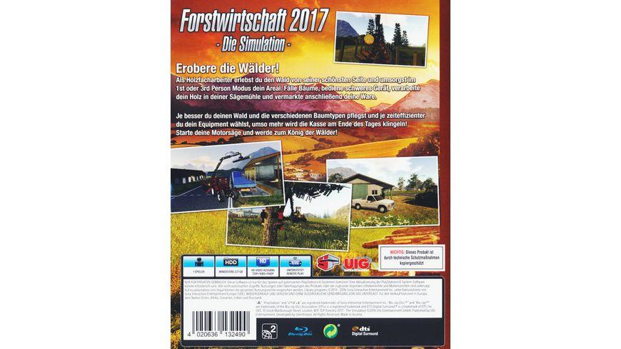 Forstwirtschaft 2017 Die Simulation