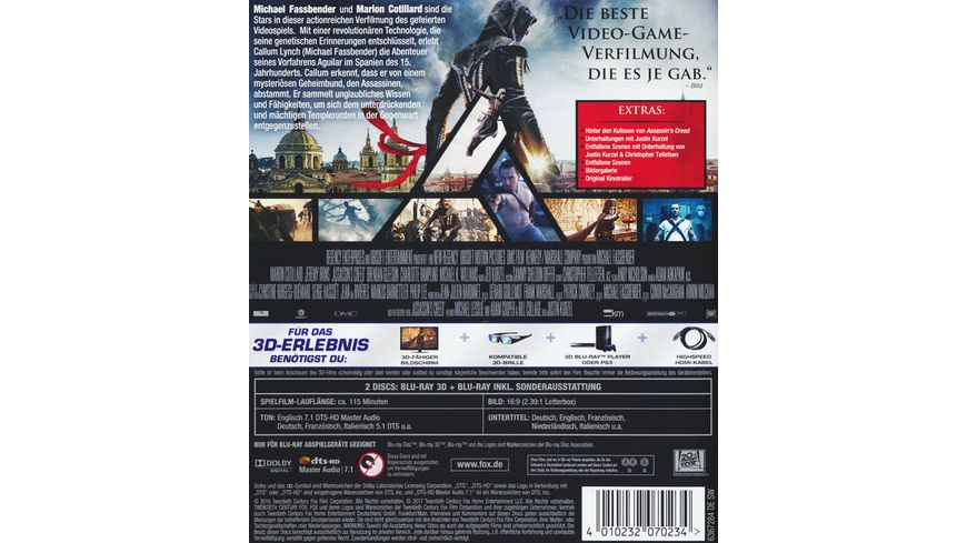 Assassin s Creed Blu ray