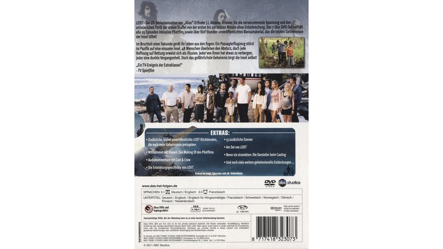 Lost Staffel 1 7 DVDs