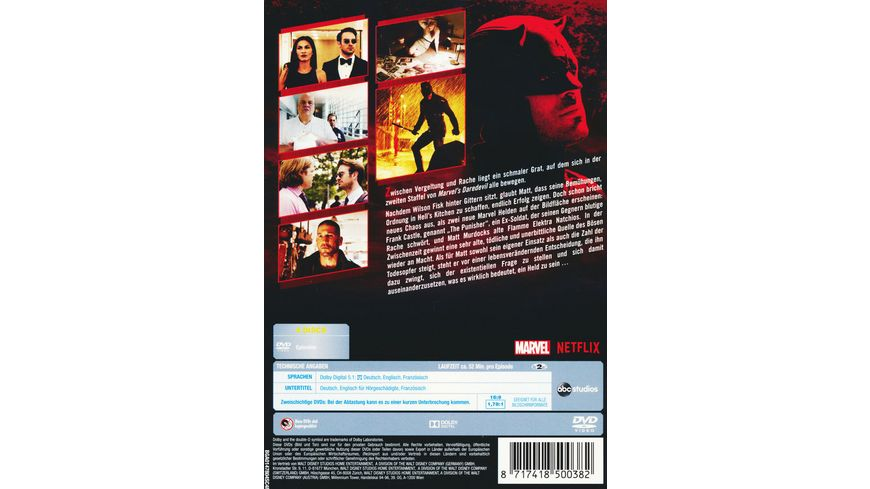 Marvel s Daredevil Die komplette 2 Staffel 4 DVDs