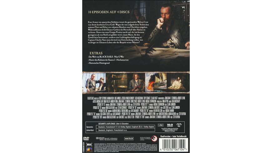 Black Sails Season 2 4 DVDs